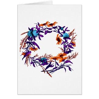 Floral Flower Wreath Plants Botanical Card
