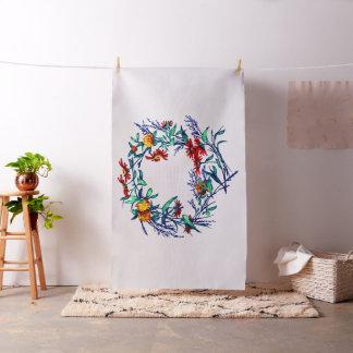 Floral Flower Wreath Plants Botanical Horticulture Fabric