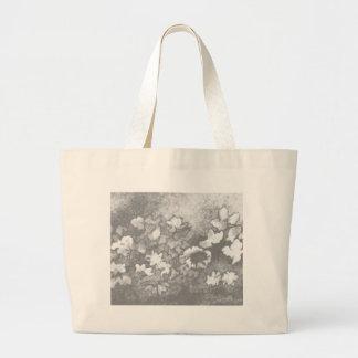 Floral Flowers Grey White Elegant Modern Gifts Jumbo Tote Bag