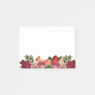 floral flowers plants modern trendy post it note
