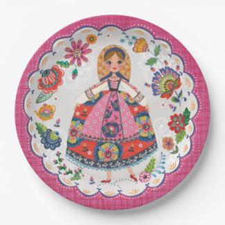 Floral Folk Garden | Birthday | Party Paper Plates