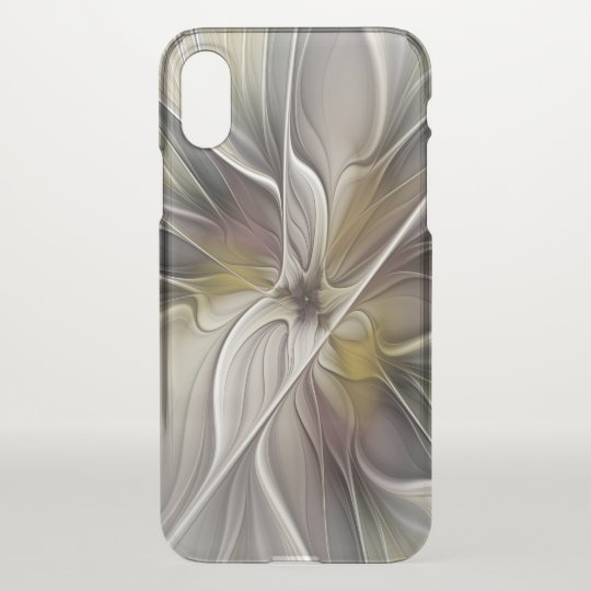 Floral Fractal, Fantasy Flower with Earth Colours iPhone X Case