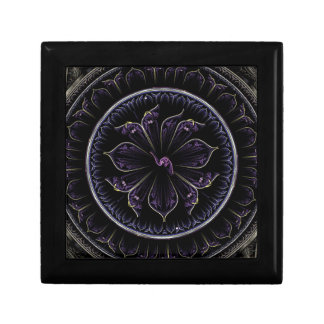 Floral Fractal Small Square Gift Box