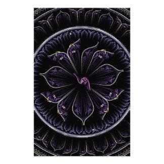 Floral Fractal Stationery