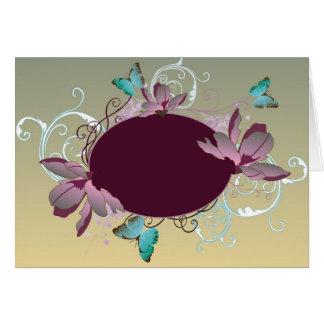 Floral frame Card