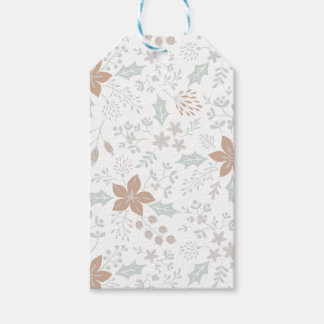 Floral Frame Holiday Gift Tags