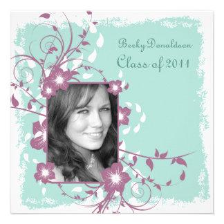 Floral Frame Mellow Graduation Invite