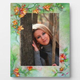 Floral Frame Plaque