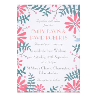 Floral Frame Wedding Invitation