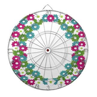 Floral Frame with Custom Name Dartboard