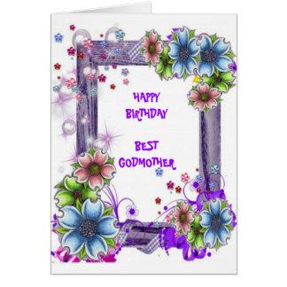 Floral Framed Godmother Card