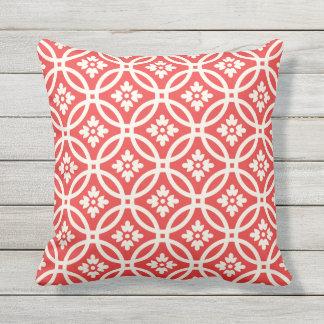 Floral Framework Patterned | Poppy Red Cushion