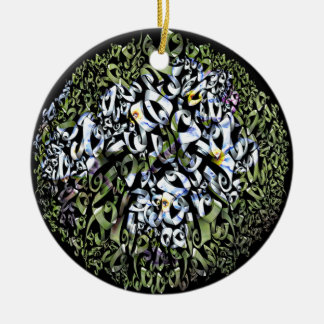 Floral Frezy Products. Round Ceramic Decoration