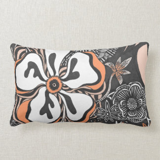 Floral Frill | Customizable Color | Throw Pillow