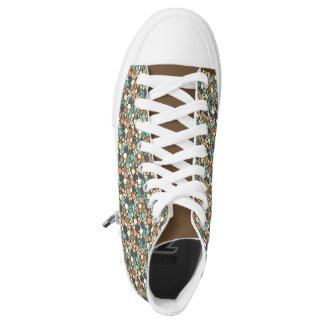 floral funky shoes printed shoes