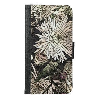 Floral Galaxy phone wallet