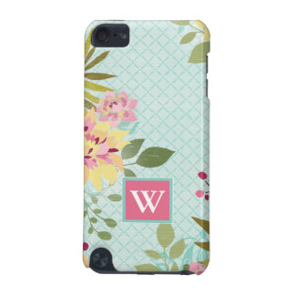 Floral Garden, Blue Background iPod Touch 5G Case