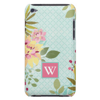 Floral Garden, Blue Background iPod Touch Case-Mate Case