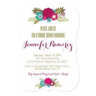 Floral Garden Bridal Shower Invitations