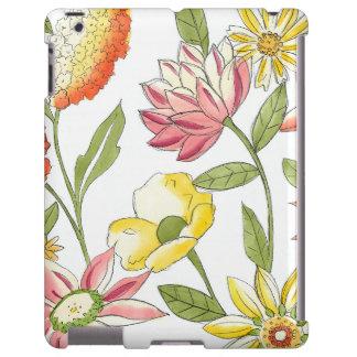 Floral Garden Design with White Background