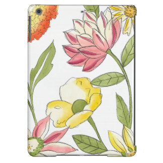 Floral Garden Design with White Background iPad Air Case