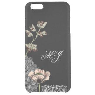 Floral Garden Elegant Clear Simple Monogram Case