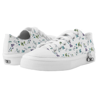 Floral Garden Low Top Shoes Printed Shoes