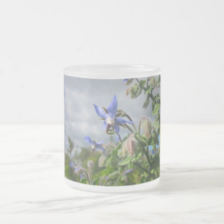 Floral Garden Park Peace Love Frosted Glass Mug