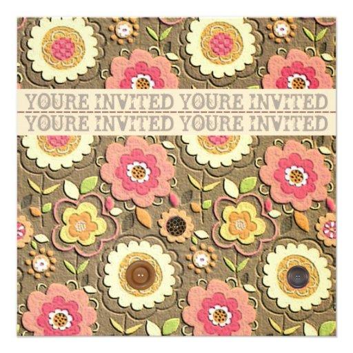 Floral Garden Party Invitation II