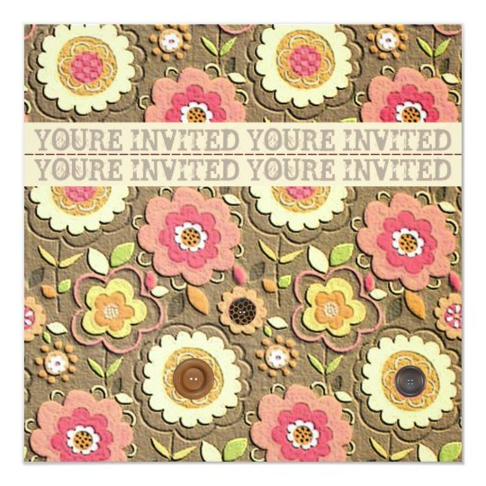 Floral Garden Party Invitation II