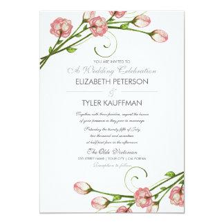 Floral Garden Roses Wedding Invitation