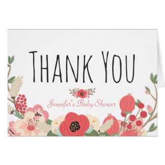 Floral Garden Style Baby Shower Card
