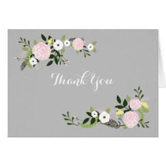 Floral Garden Thank You Notes Note Card