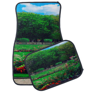 Floral Garden Trees and Clouds Set of 4 Car Mats