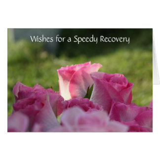 Floral Get Well Card, Pretty Pink Roses