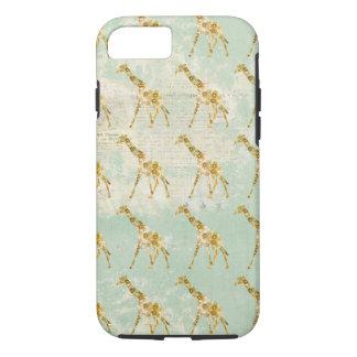 Floral Giraffe Pattern iPhone 7 case