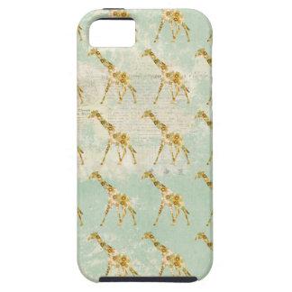 Floral Giraffe Pattern  iPhone Case