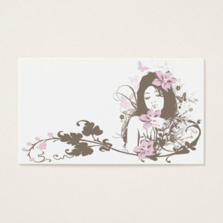 Floral-Girl Business Card