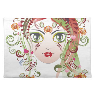 Floral Girl Face 2 Placemat