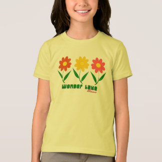 Floral Girls' American Apparel Fine Jersey T-Shirt