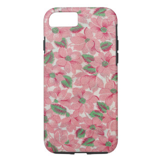 Floral Girly Flowers Painted Pink & Green Flora iPhone 8/7 Case