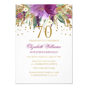 70th birthday invitations announcements zazzle au