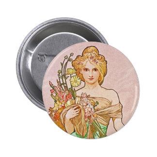 Floral Goddess Button
