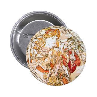 Floral Goddess Pinback Buttons