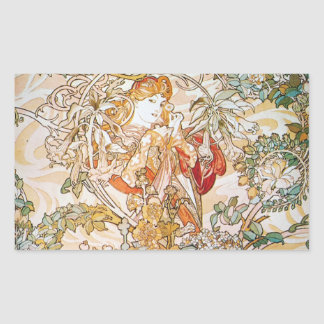 Floral Goddess Rectangular Sticker