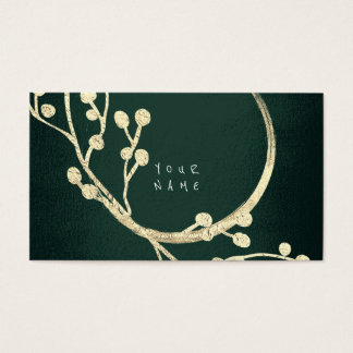 Floral Golden Foil Jungle Glam Cali Green Woodland Business Card