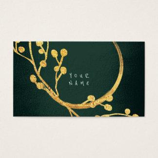 Floral Golden Foil Jungle Glam Vip Business Card