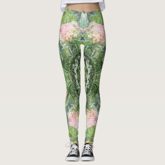 Floral Gone Wild Pink and Green Leggings