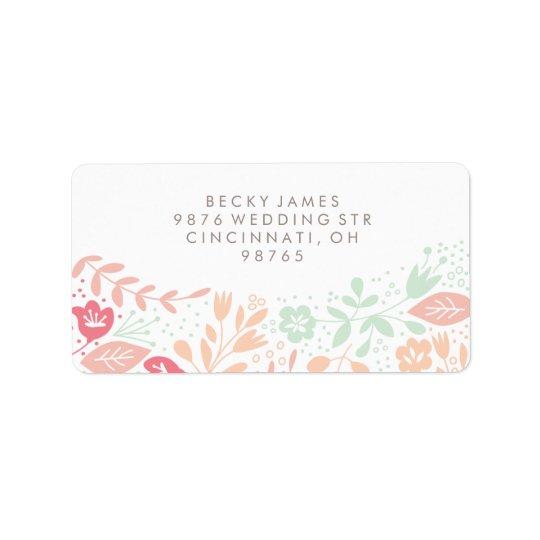 Floral Grace Stickers Return Address Address Label