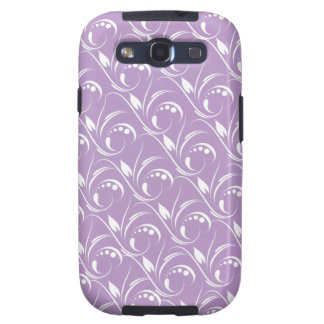 Floral Graphic Design On African Violet Background Samsung Galaxy SIII Covers